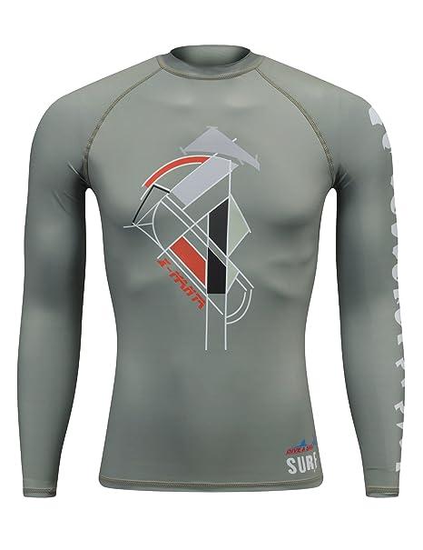 Amazon.com: Rash Guard Camisa, camisas de buceo & Sail UPF ...
