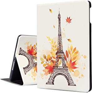 iPad Air 2 Case, iPad Air Case, Beign Eiffel Tower iPad 9.7 Case Protective Cover for Apple 5th/6th Generation, Multi-Angle Viewing Case with Adjustable Stand Auto Wake/Sleep Function (Eiffel Tower)