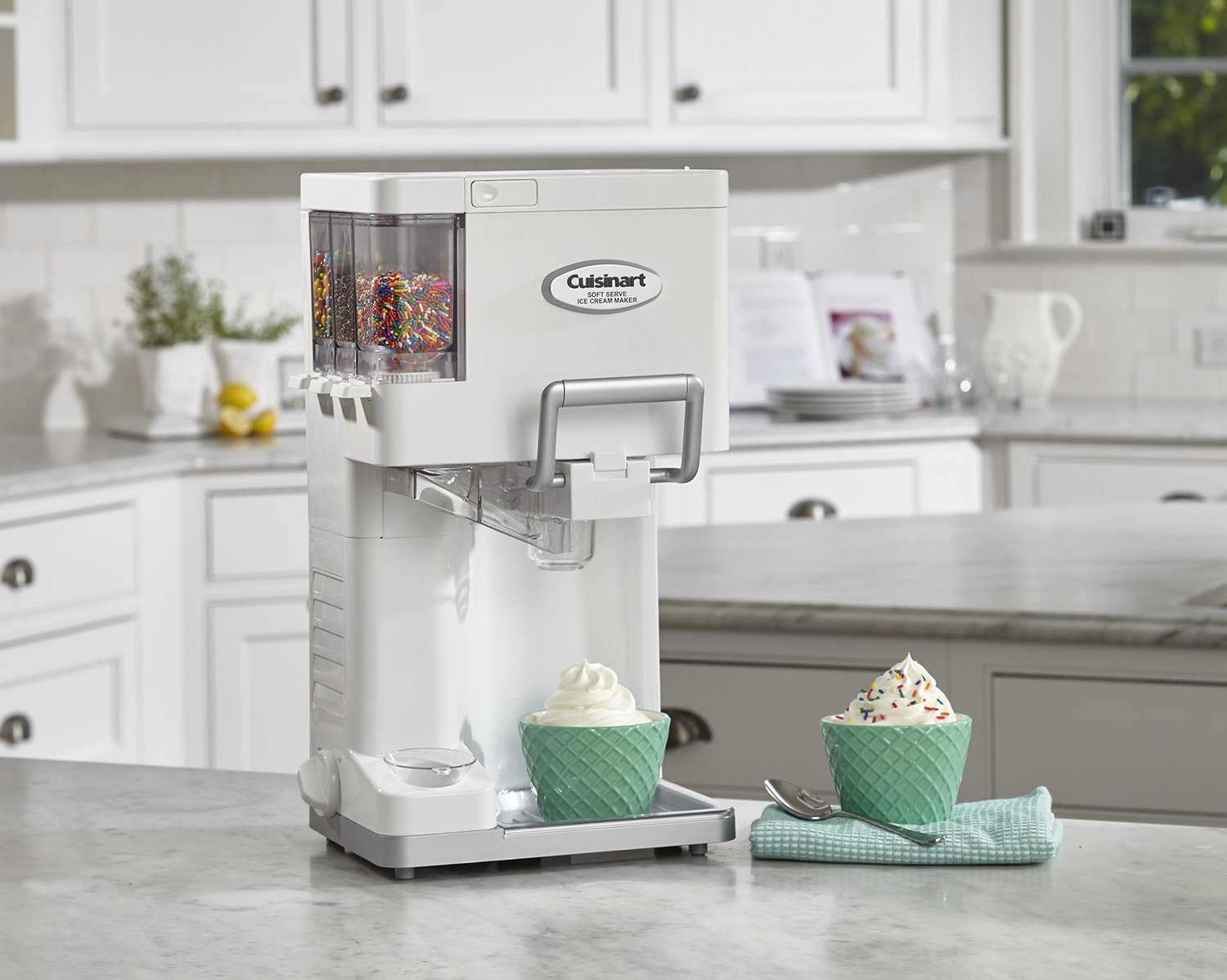 ice cream maker in kitchen