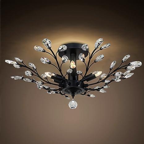 contemporary glass lighting. SPARKSOR Crystal Chandelier Ceiling Light, Modern Contemporary Elegant K9  Glass Pendant Lighting Contemporary Glass Lighting D