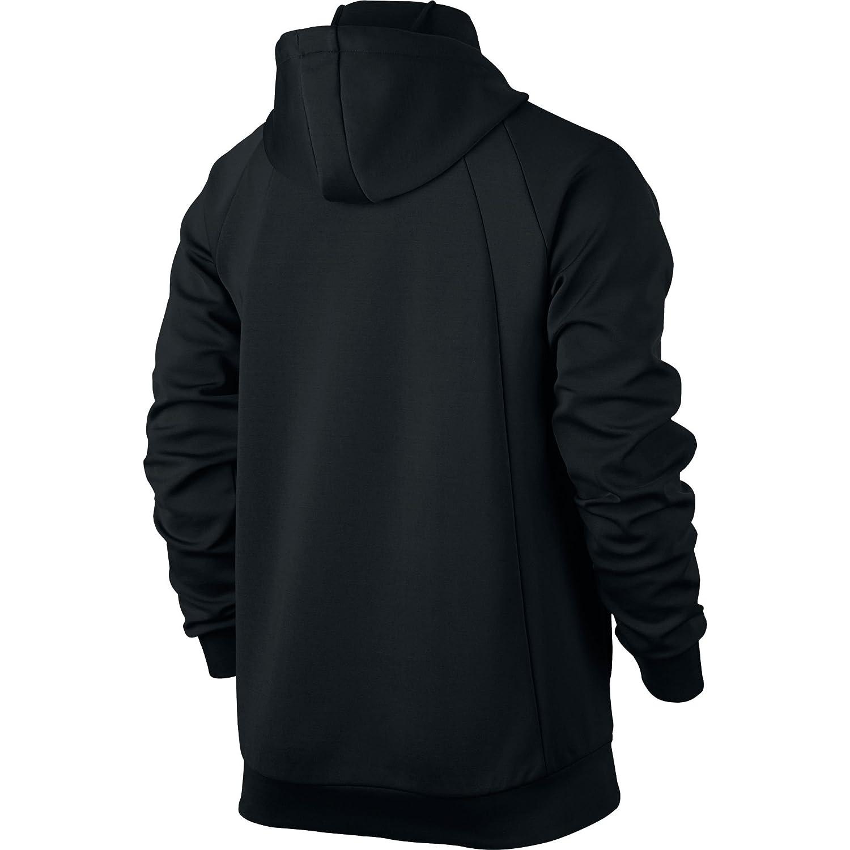 d6748ec03f81 Jordan Nike Mens Flight Tech Fleece Full-Zip Hoodie - Black Black   Amazon.co.uk  Clothing