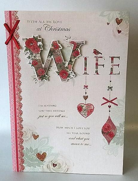 Con amor a mi esposa feliz Navidad - Tarjeta de felicitación ...