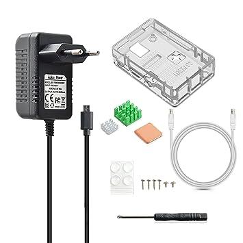 Aukru Transparente Caja Micro USB 5V 3000mA Cargador + ...