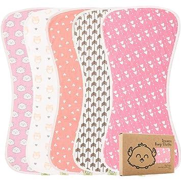Infant Baby Cotton Bib Striped Print Burp Cloths Striped Kids Saliva Towel H