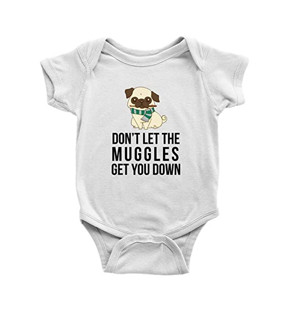 39dc4b139d5a Amazon.com: Pug Muggle Harry Potter Baby Bodysuit, Dog Lover Baby Clothes, Infant  Clothes, Baby Boy, Baby Girl Clothes, Newborn: Clothing