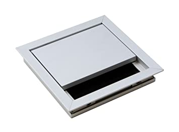 Passe c ble argent bureau eco boîte rectangulaire avec c ble joint