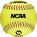 Worth NC12BB 12-Inch Protac NCAA 4 Outdoor Training Balls in a Bag
