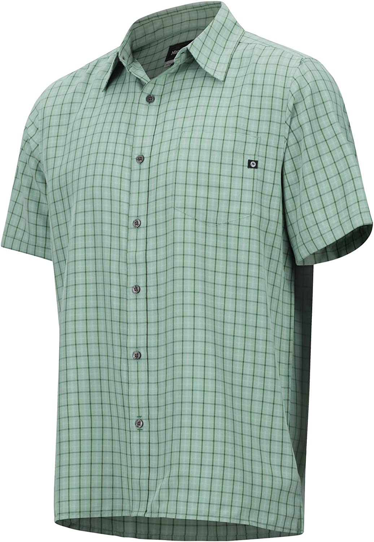 con protecci/ón UV al Aire Libre de Senderismo Marmot Eldridge Short Sleeve Camisa Manga Corta Hombre Transpirable