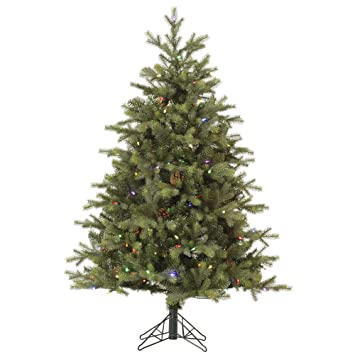 vickerman rocky mountain ez plug artificial christmas tree with 800 multi colored led lights