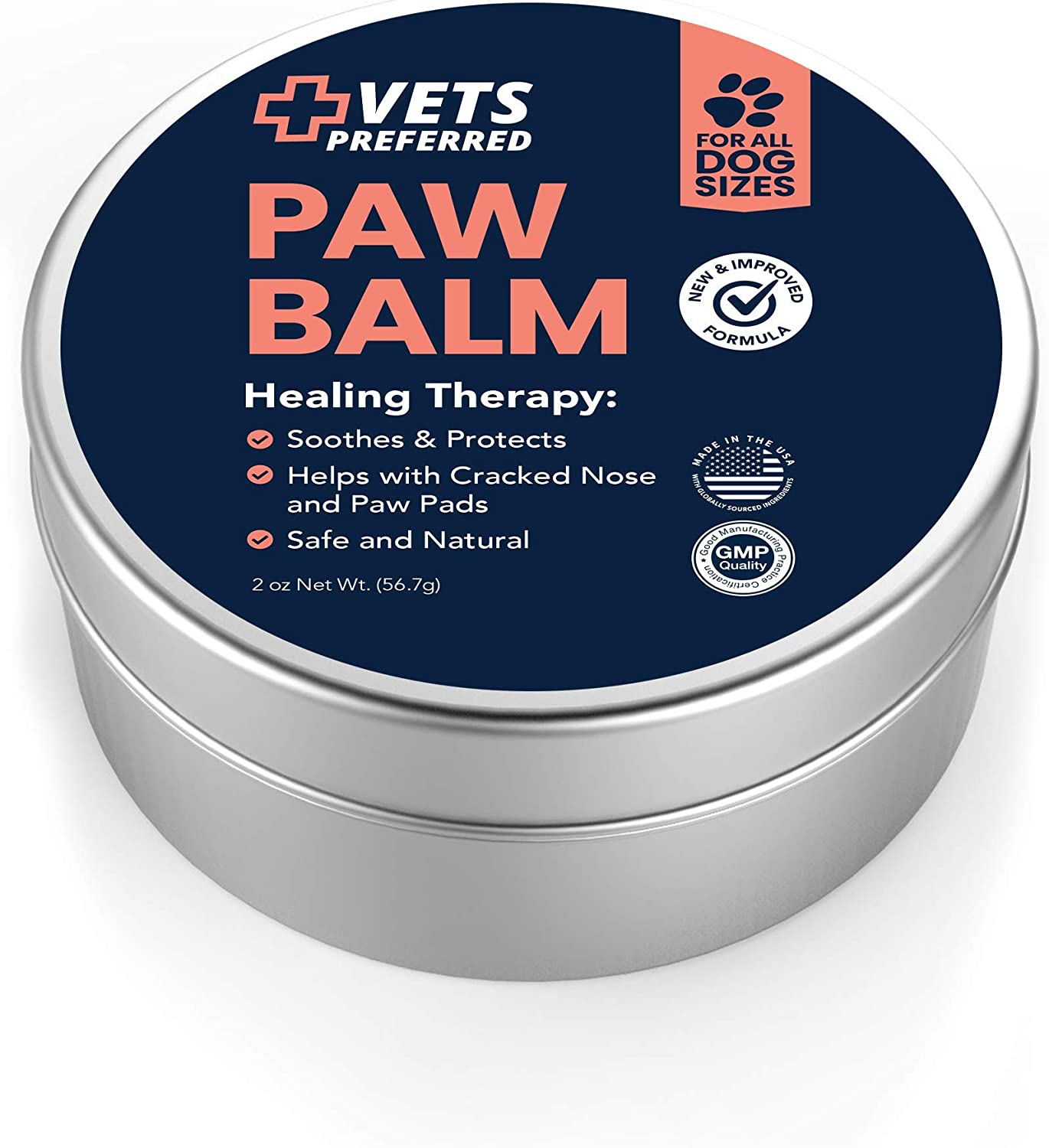 Vets Preferred Advanced Pad Protection   VETERINARIAN-GRADE Dog Paw Balm   Heals, Repairs, and Moisturizes Dry Noses and Paws   Effective  Ideal for Extreme Weather Conditions