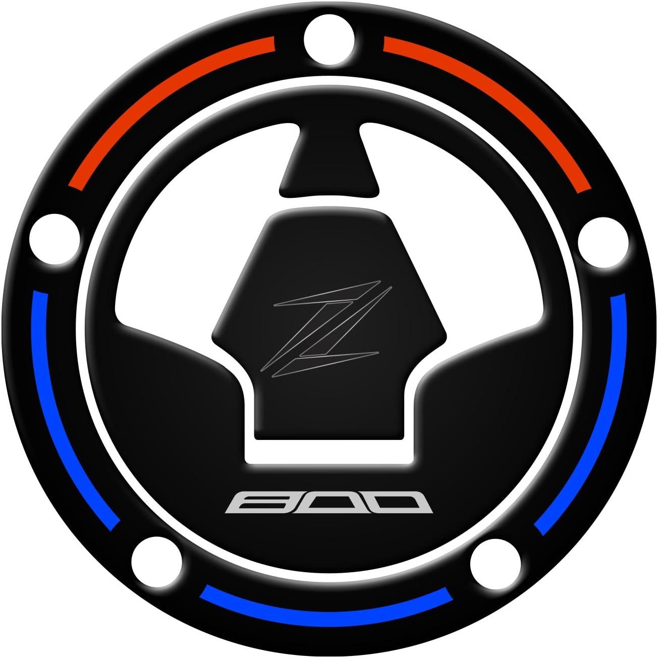 Blue FUEL CAP PROTECTOR PROTEZIONE TAPPO BENZINA RESINATO 3D per moto KAWASAKI Z800 PRE-081