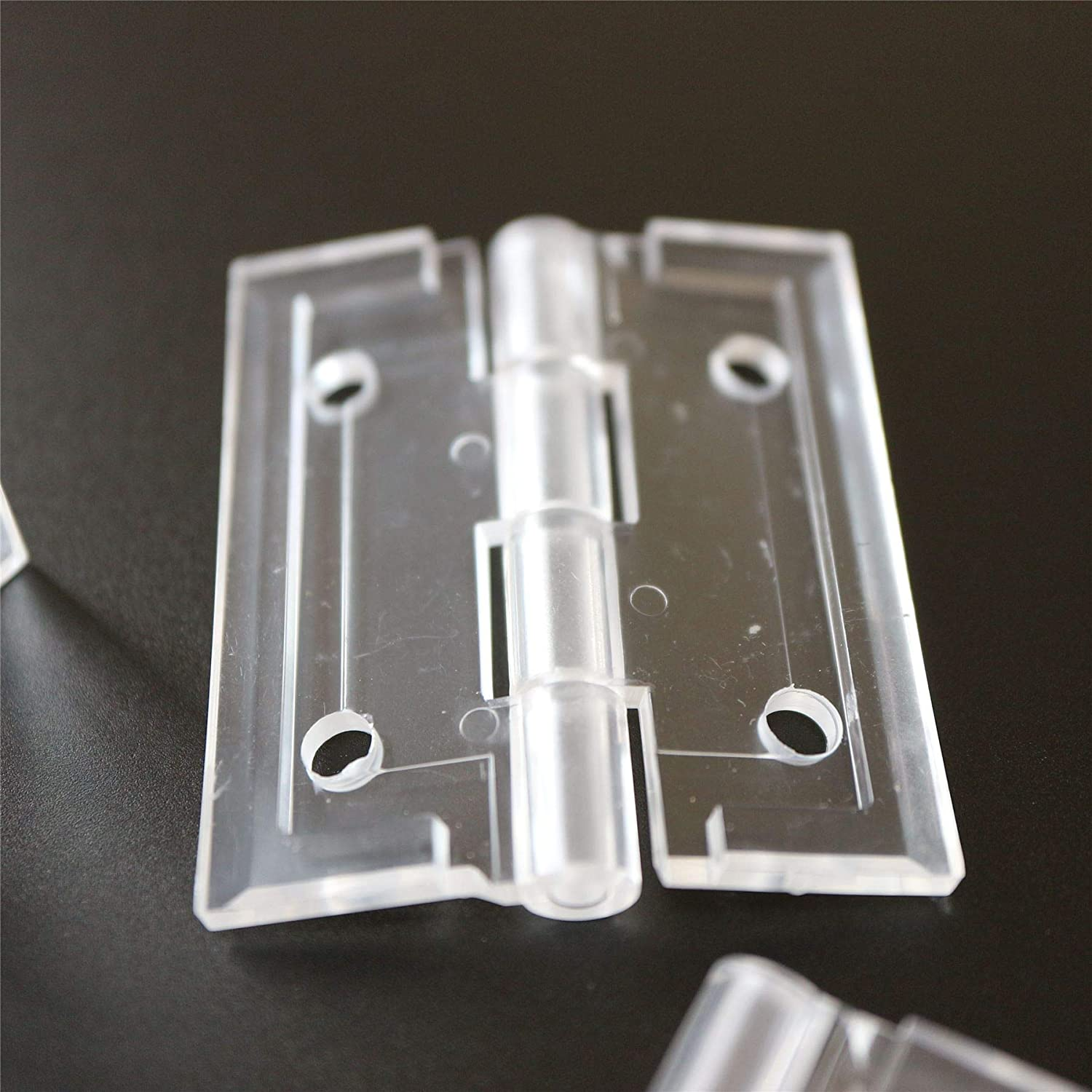 Clear Transparent Perspex Acrylic Corner 4 x Angled L Hinge Hinges Brackets Clear Right Angle Bracket 20x Bolts