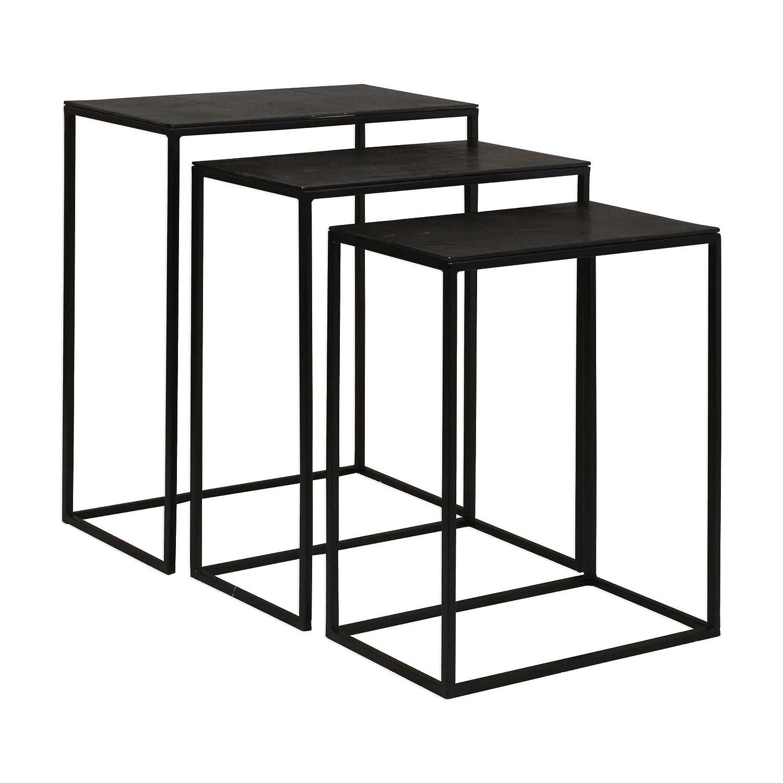 Amazon.com: Uttermost Coreene 3 Piece Nesting End Table Set ...