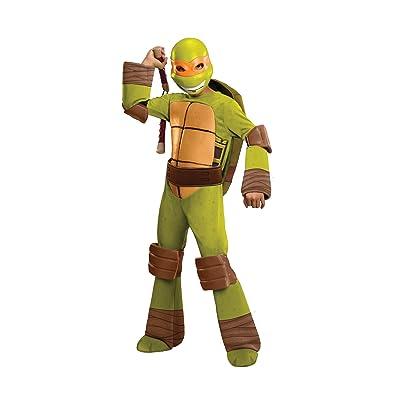 Teenage Mutant Ninja Turtles Deluxe Michelangelo Costume, Medium: Toys & Games