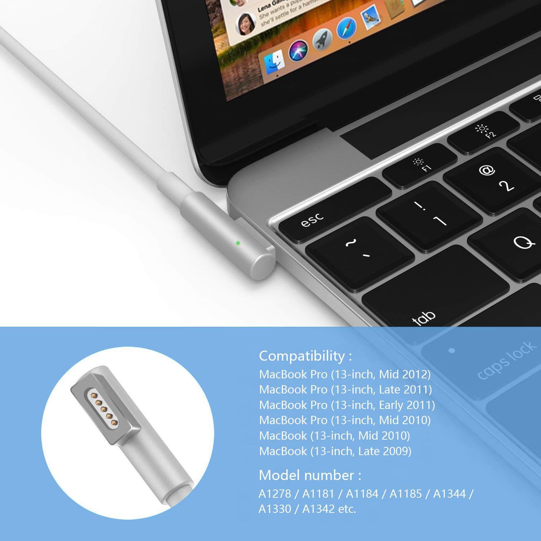 MacBook Pro Cable de Carga MagSafe 60W, L-Tip Magsafe 1 ...