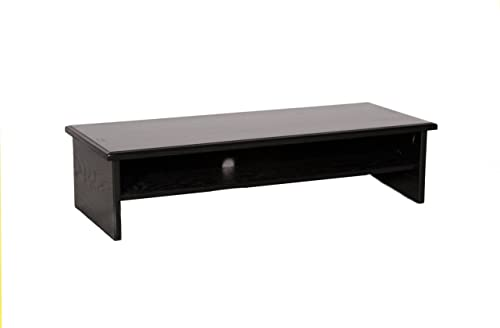 Black X-Large Triple Tier TV Riser 36x14x8 3 4 top-33wx13d x 3 1 2 high Inside
