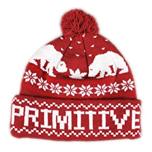 PRIMITIVE JOLLY BEAR POM BEANIE