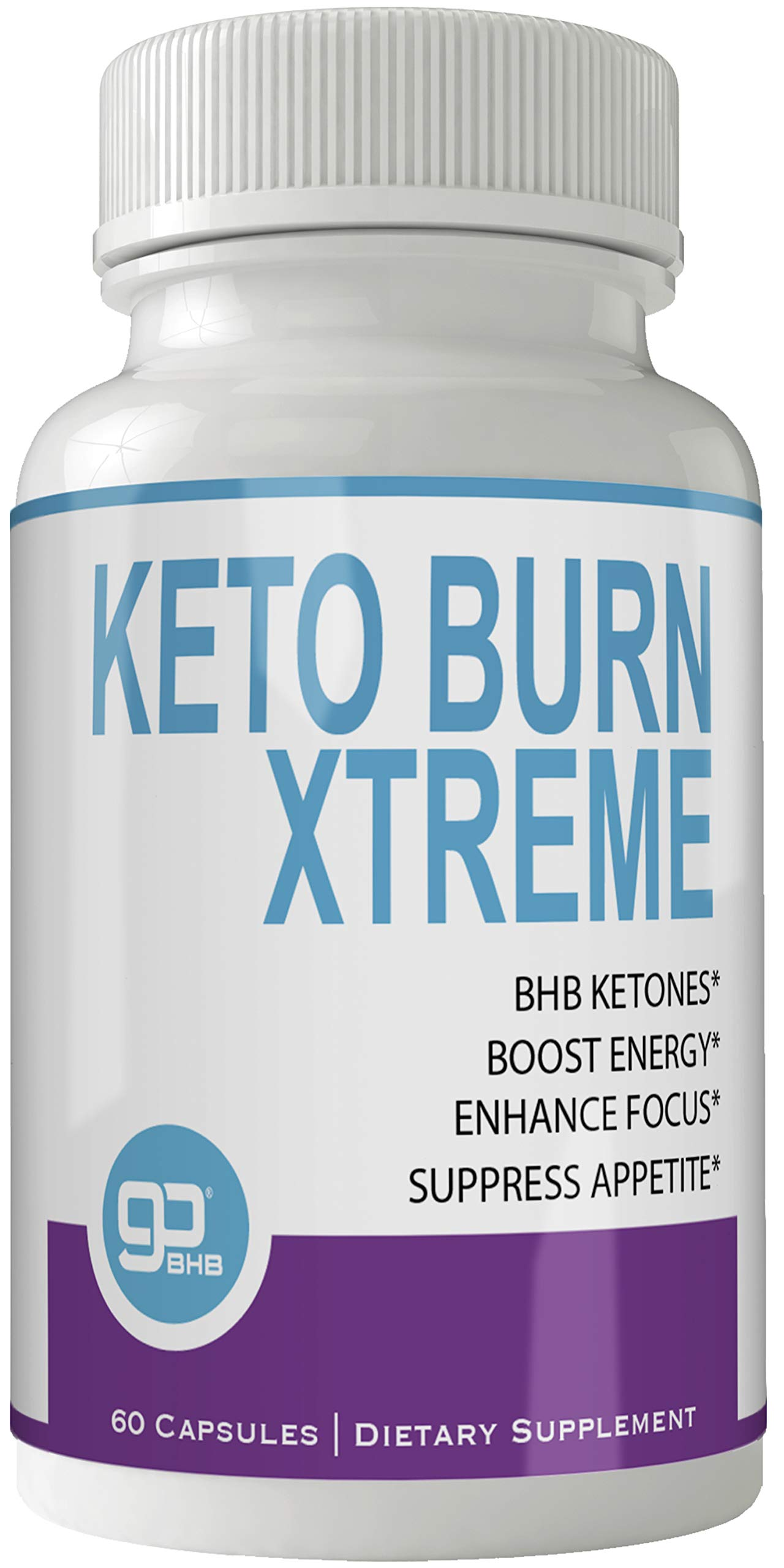 Keto Burn Xtreme Weight Loss Pills, Extreme Natural Ketogenic Burn Fat Supplement, 800 mg Formula with New GO BHB Salts Formula, Advanced Appetite Suppressant Capsules