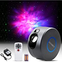 LUUMEO® Night Light Galaxy Star Projector 7 in 1 Remote Control LED Nebula Cloud Living Bedroom Decorations Home Theater…