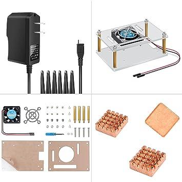 Amazon.com: Raspberry Pi 3 carcasa acrílico funda protectora ...