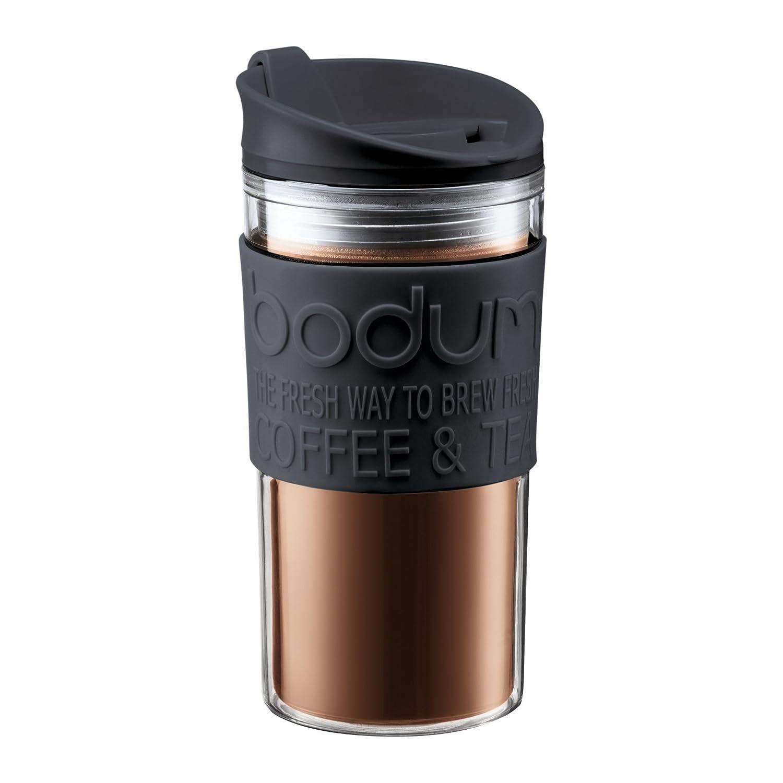 BODUM Travel Mug, Plastic, Black, 0.35 Litre/15 oz. 11103-01