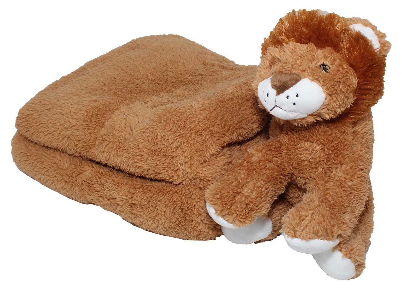 Silver One Sherpa Plush Stuffed Animal and Throw Blanket 2 Peice Gift Set for Kids/Children | 50'' x 60'' Soft Plush Throw | Get Well Gifts Tan Lion by SILVER ONE (Image #3)