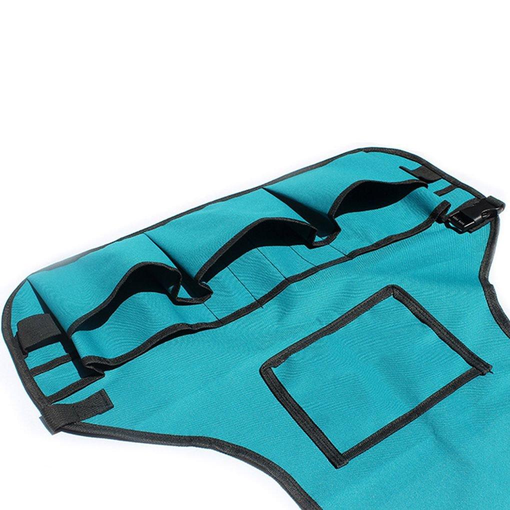 ELENXS 600D Oxford Tissu Multi Poches de Jardin Bo/îte /à Outils Tablier r/églable Greening v/êtements de Travail Bleu imperm/éable /à leau