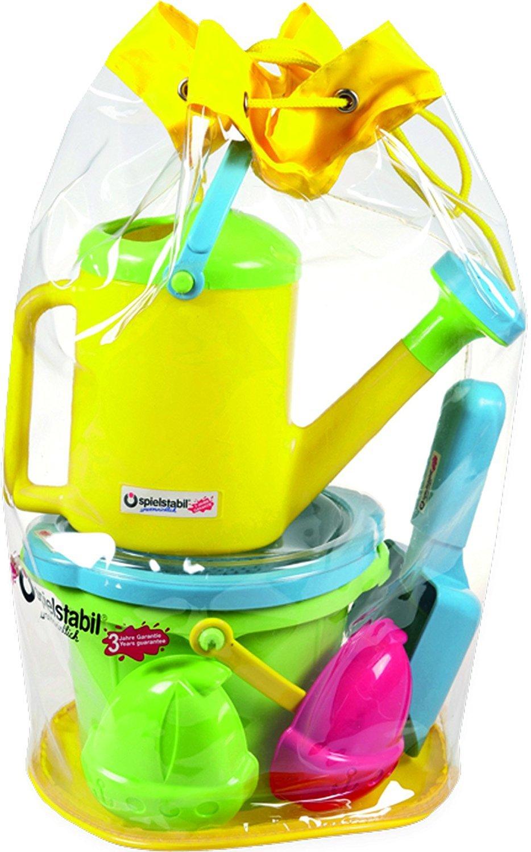 SPIELSTABIL Le lot de 6 jouets pour le sable jouet de sable, vert/coloré vert/coloré 7536