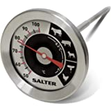 Salter Kitchen Analogue Meat Thermometer, Easy Read Food Probe, Cooking, Roasting, BBQ, 1 Degree Precision, 50-100C Measurement Range + Ideal Temperature Measure Gauge for Perfect Roast Every Time