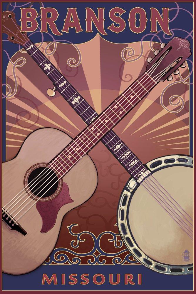 ブランソン – ギターとバンジョー 36 x 54 Giclee Print LANT-50142-36x54 36 x 54 Giclee Print  B017E9YEBA