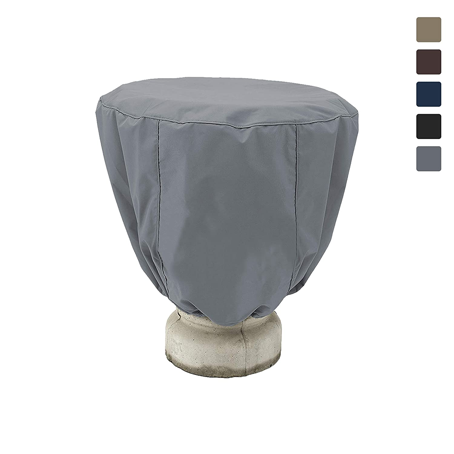 Bird Bath Cover 18 Oz Waterproof - Customize Cover with Any Size - 100% UV Weather Resistant Outdoor Cover with Elastic and Drawstring for Snug Fit (24' Dia x 18' H, Black)