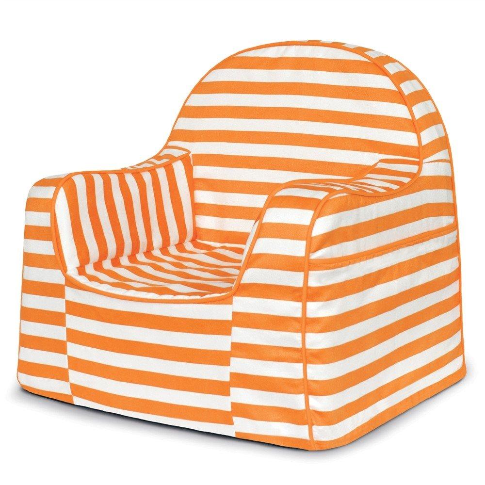 P'kolino PKFFLROS Little Reader Chair - White/Orange P' kolino