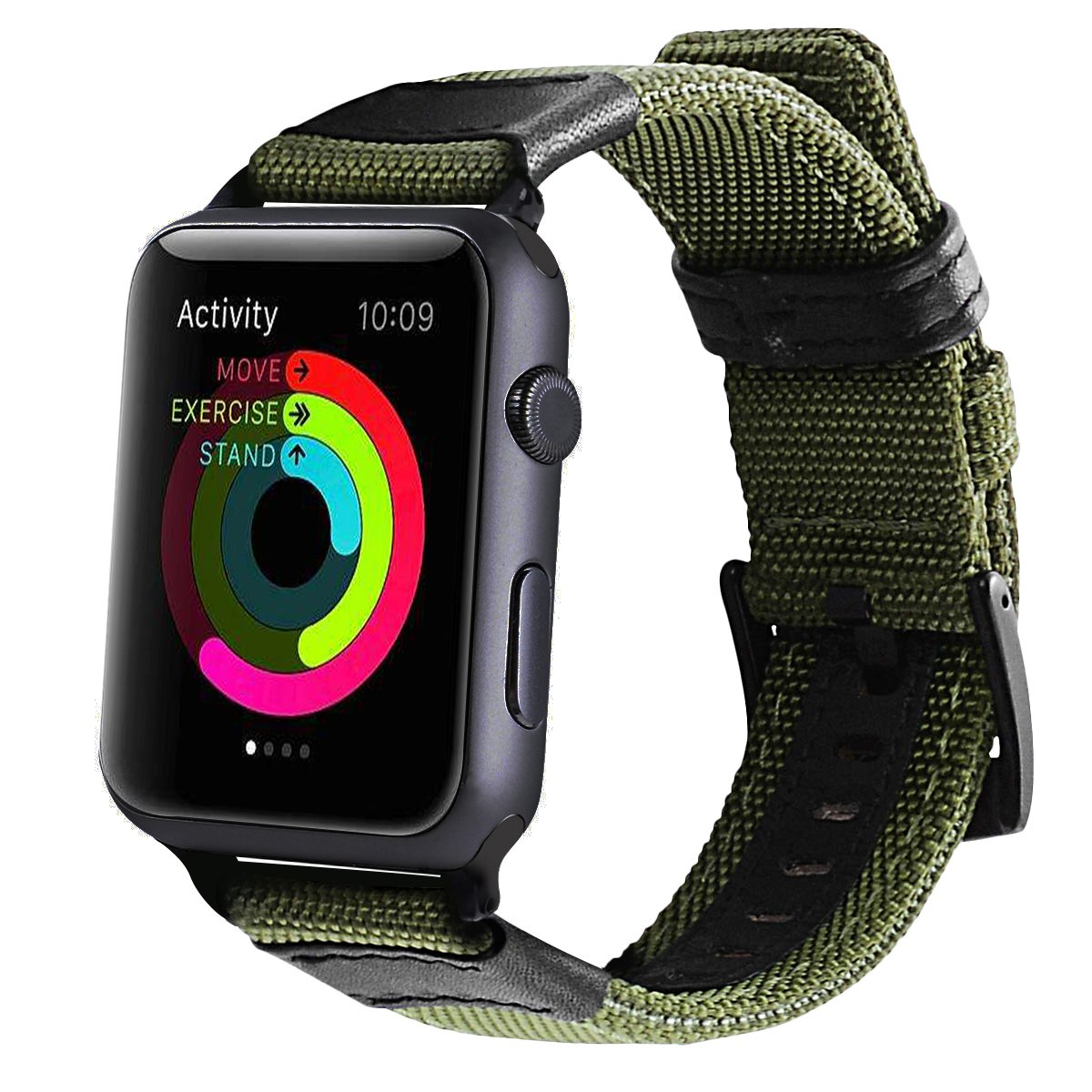 best service a21c4 aab1c Maxjoy For Apple Watch Band 42mm, Nylon iWatch Strap Replacement ...