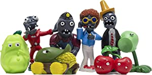 L&V toys PVZ Figurine Set - Cake Figurines, Cupcakes, Birthday Decorations - 8 Pieces (1,2 - 3,1 inches).