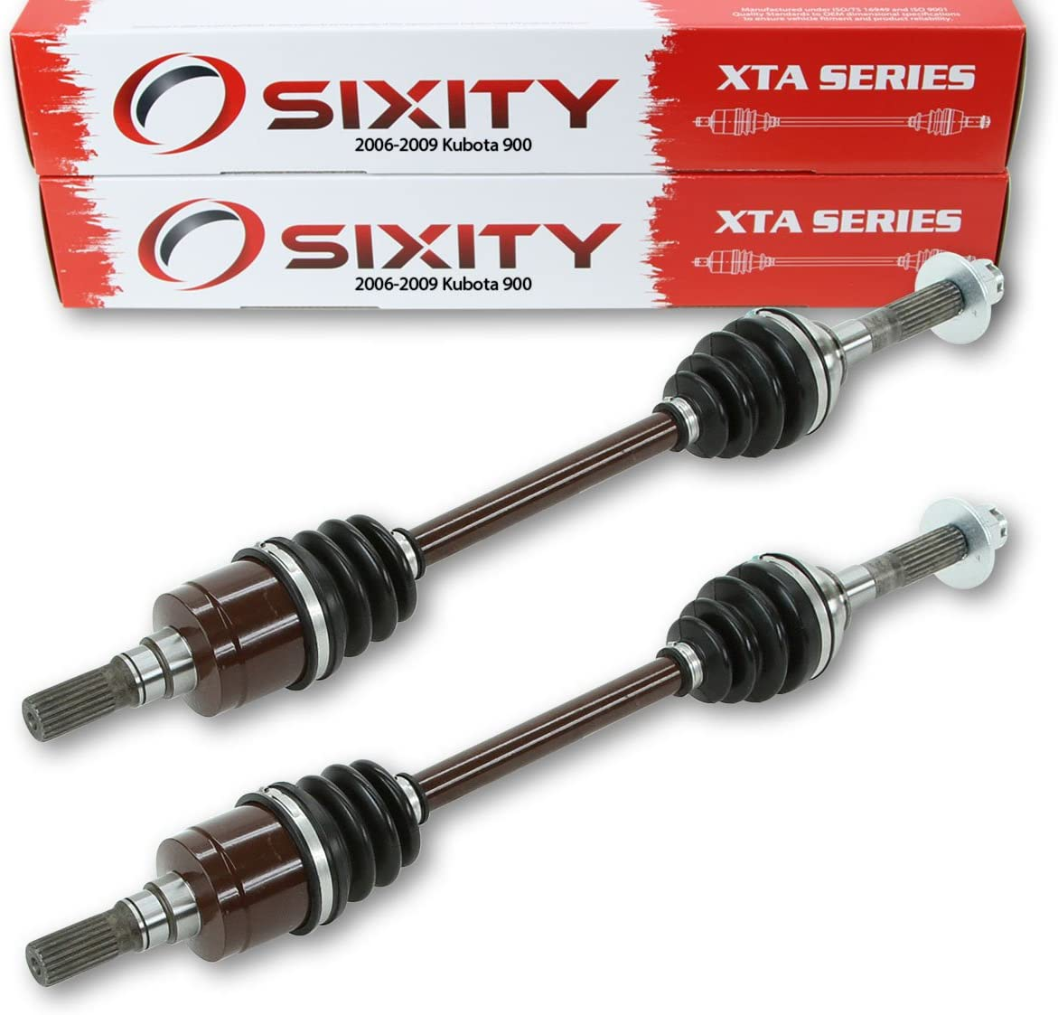 Sixity 2006-2009 for Kubota 900 4X4 Front Left Right Axles Pair Driver Passenger RTV900W6 Complete Side
