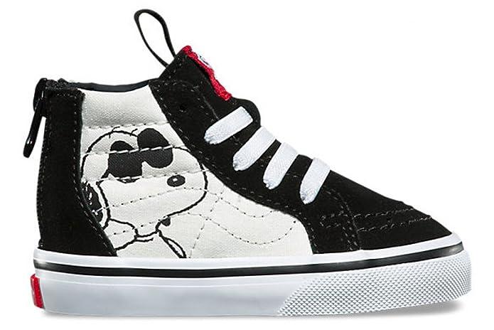 Vans Sk8-Hi Sneakers Kinder Unisex High Top Schwarz Weiß Peanuts Snoopy