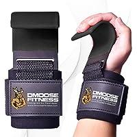 Gewichtheffen Haken Grip - Training Polsriemen, antislip coating, 8 mm dik gewatteerd neopreen, dubbele stiksels maken…