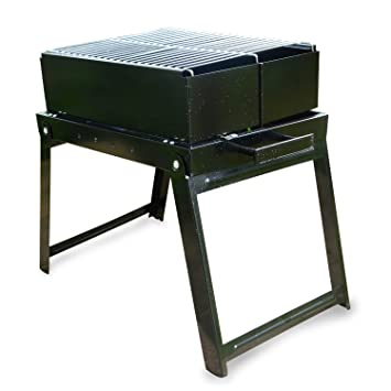 FlyingColors Charcoal BBQ Grill . Stainless Steel Portable Folding Charcoal  Grill For Cookouts, Tailgate Parties