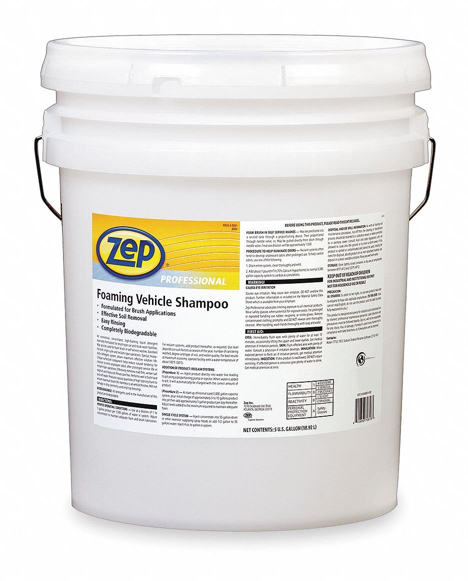 Zep Professional R08135 GreenLink Foaming Vehicle Shampoo, Blue (Pail of 5 Gallons)