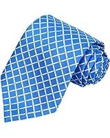 MINDENG Tartan Wool Tie Orange Check Business Men's Silk Neckties Leisure Ties