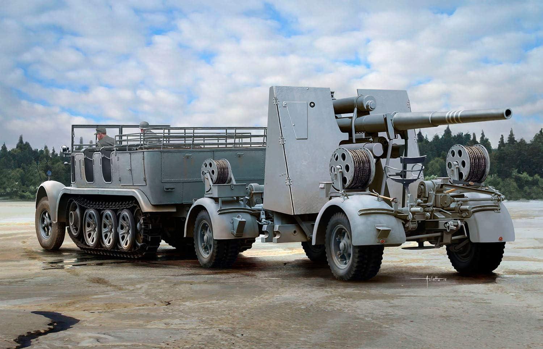 ton 7 8 Halbkette /& 8,8cm Flak 36//37-1:35 Dragon 6948 Sd.Kfz