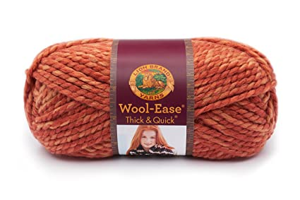 e9068e8d81c424 Amazon.com  Lion 640-524 Wool-Ease Thick   Quick Yarn