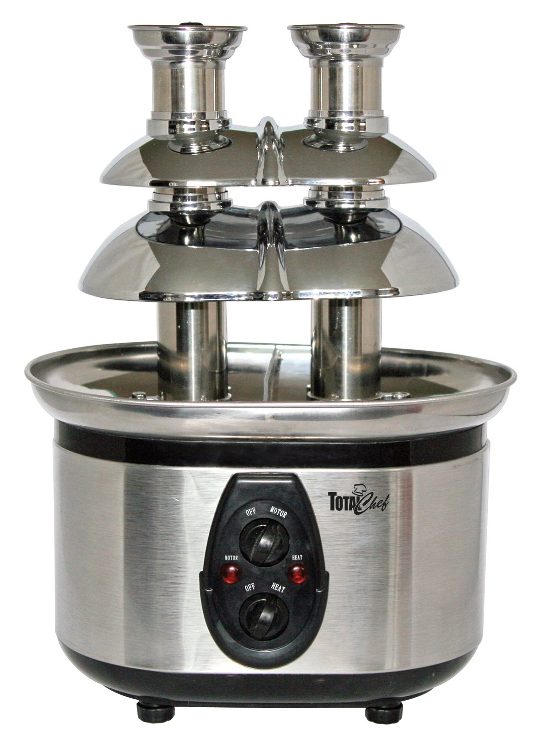 Total Chef WTF-43 Stainless-Steel Double-Tower Chocolate Fountain Koolatron