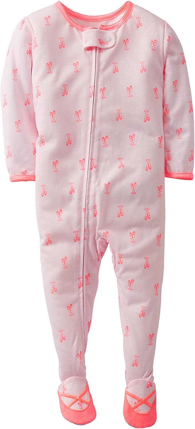 Carters Girls Toddler Ballet Zip Up Sleep /& Play 3T Pink