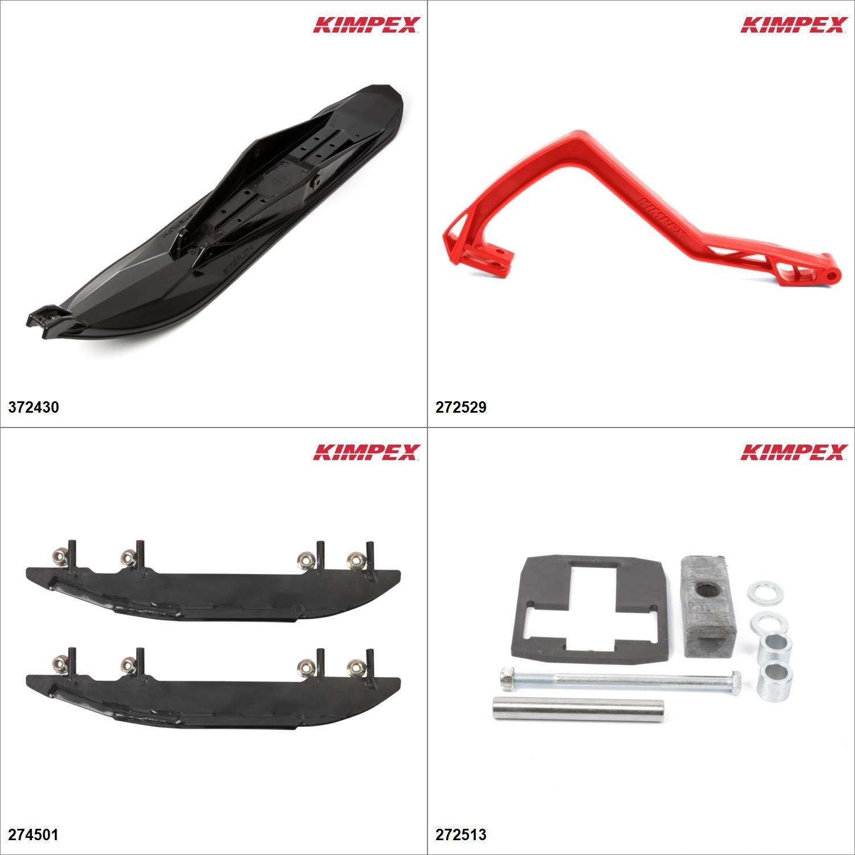 Kimpex - Ski Stealth Kit - Black, Polaris Super Sport 550 2006-08