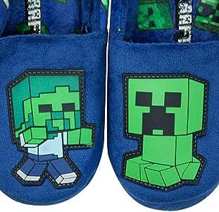 boys minecraft slippers