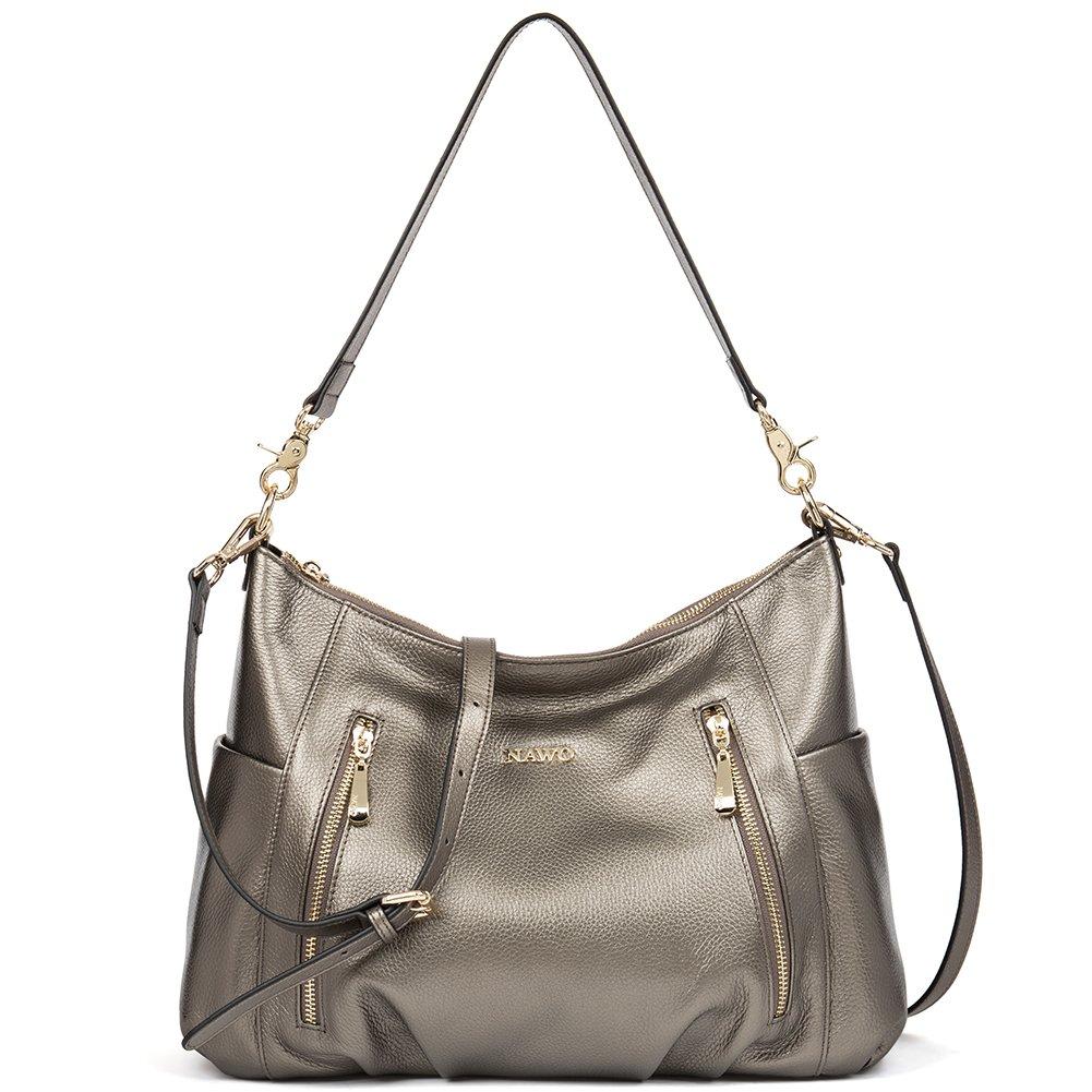 Amazon.com  NAWO Women s Leather Hobo Handbags Purse Cross Body Totes  Shoulder Top-Handle Bags  Shoes d1a1293be5422