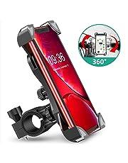 Cocoda Support Téléphone Vélo, Porte Téléphone Vélo Anti-Vibrations Rotation à 360° en Silicone Universel, Compatible avec iPhone X/XR/XS MAX/8/7/6 Plus, Samsung Galaxy S10/S10e/S10/S9 Plus