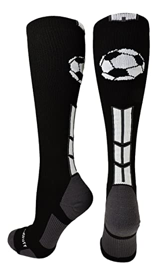 c2fadb3f33c32 MadSportsStuff Soccer Socks with Soccer Ball Logo Over The Calf (Multiple  Colors)