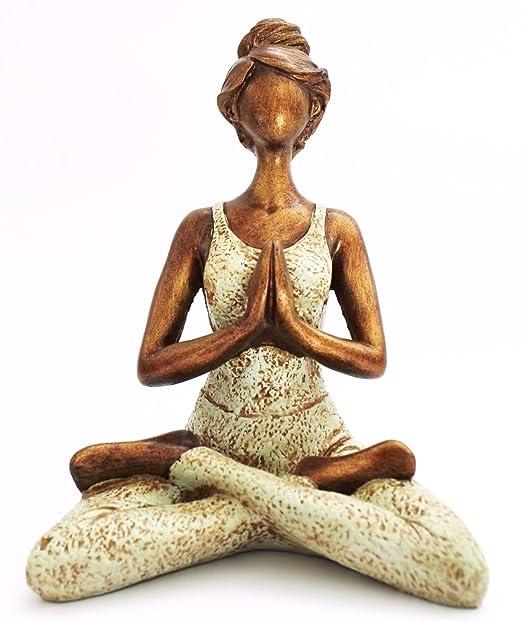 Yoga Figura Mujer 25?CM en R?Sine Feng Shui figura Escultura ...